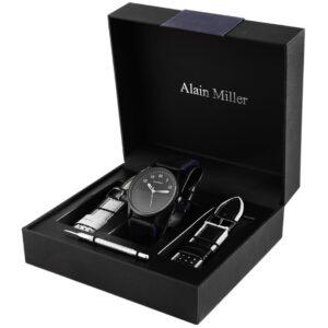 Conjunto Relógio Alain Miller com 2 Braceletes Black & Navy - 2900162-002