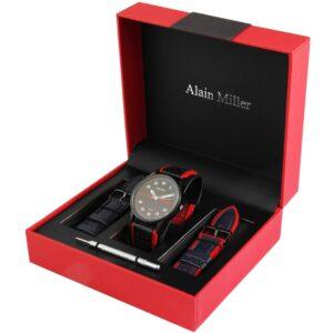 Conjunto Relógio Alain Miller com 2 Braceletes Black & Red - 2900162-003