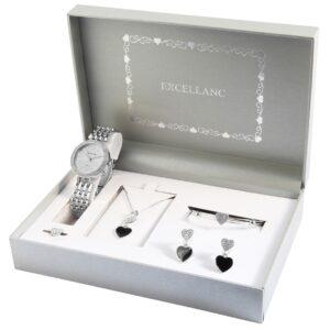 Conjunto Relógio e 6 Peças Silver Heart - 1800178-002