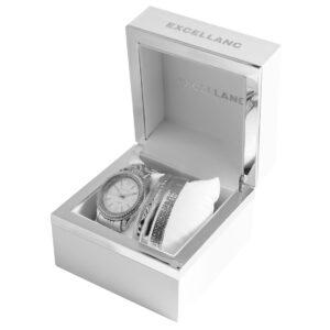 Conjunto Relógio com 5 Pulseiras Silver - 1800180