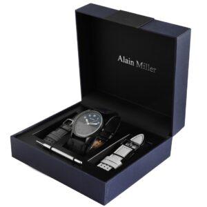 Conjunto Relógio Alain Miller com 2 Braceletes Navy - 2900162