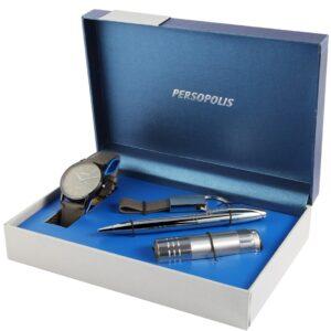 Conjunto Persopolis Relógio com Caneta Lanterna e Porta-Chaves Grey - 2900128-003