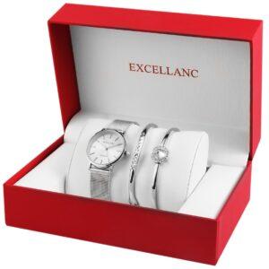 Conjunto Relógio com 2 Pulseiras Silver Stones - 1800154-003