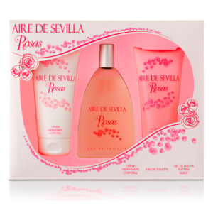 Conjunto de Perfume Mulher Agua Rosas Aire Sevilla (3 pcs)