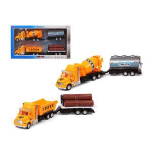 Conjunto veículos Camión obras públicas Amarelo 119251 (2 Uds)