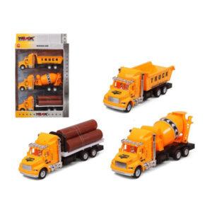 Conjunto veículos Camión obras públicas Amarelo 119305 (3 Uds)