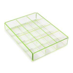 Caixa de Chá Polipropileno (20 x 5 x 27 cm) Verde