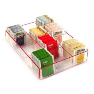 Caixa de Chá Polipropileno (20 x 5 x 27 cm) Vermelho