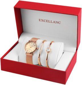 Conjunto Relógio com 2 Pulseiras Rose Gold Stones - 1800154-001