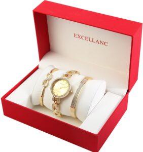 Conjunto Relógio com 2 Pulseiras Gold Stones - 1800201