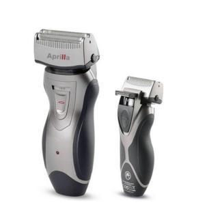 Máquina de Barbear Elétrica Recarregável Aprilla Preto Prateado