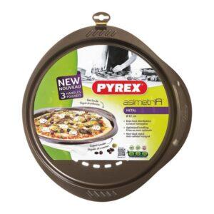 Molde para Pizza Pyrex Asimetria Aço Galvanizado (32 cm)