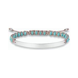 Bracelete feminino Thomas Sabo LBA0052-905-17-L21V Prata Azul