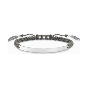 Bracelete feminino Thomas Sabo LBA0071-907-5-L21V Prata Cinzento