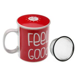 Chávena com Filtro para Infusões Grés