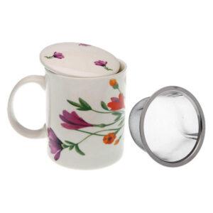 Chávena com Filtro para Infusões Florian Porcelana