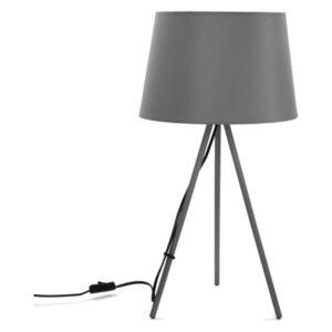 Lâmpada de Mesa Metal (29 x 56 x 29 cm) Cinzento