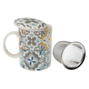 Chávena com Filtro para Infusões Alfama Porcelana