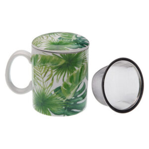 Chávena com Filtro para Infusões New Leaves Porcelana