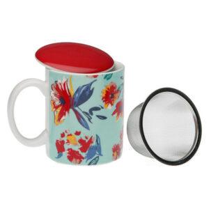 Chávena com Filtro para Infusões Paradise Porcelana