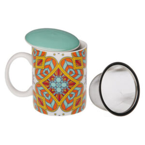 Chávena com Filtro para Infusões Aubrey Porcelana