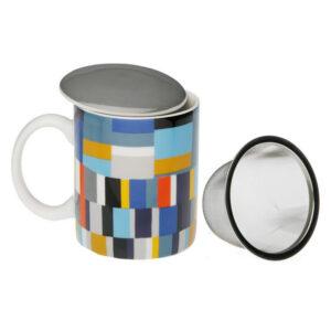 Chávena com Filtro para Infusões Etna Porcelana