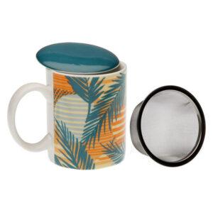 Chávena com Filtro para Infusões Saona Porcelana