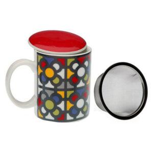 Chávena com Filtro para Infusões Urbana Porcelana