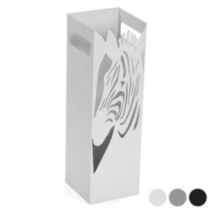 Suporte para guarda-chuvas Zebra Metal (15,5 x 49 x 15,5 cm) Cinzento