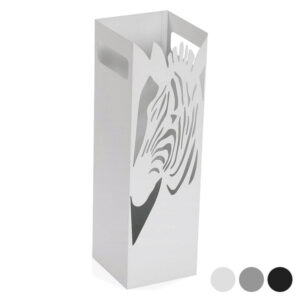 Suporte para guarda-chuvas Zebra Metal (15,5 x 49 x 15,5 cm) Branco