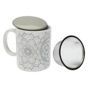 Chávena com Filtro para Infusões Mandalas Porcelana