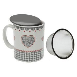 Chávena com Filtro para Infusões Kamira Porcelana