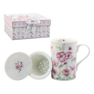 Chávena com Filtro para Infusões 116168 Rosas