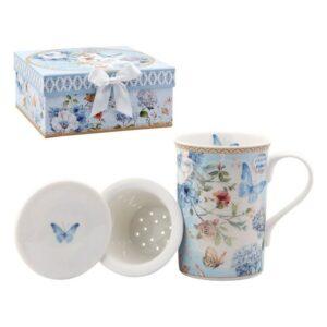 Chávena com Filtro para Infusões 116229 Borboleta Azul
