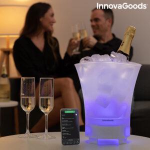 Balde de Gelo LED com Altifalante Recarregável Sonice InnovaGoods
