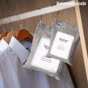 Conjunto de sacos de purificação do ar com carvão ativado Bacoal InnovaGoods (pack de 2)