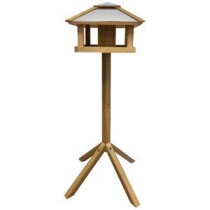 Esschert Design Comedouro para aves c/ telhado de aço quadrado FB433 - PORTES GRÁTIS
