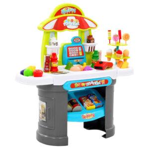 51 pcs conjunto caixa supermercado de brincar 68x25x67,5 cm - PORTES GRÁTIS