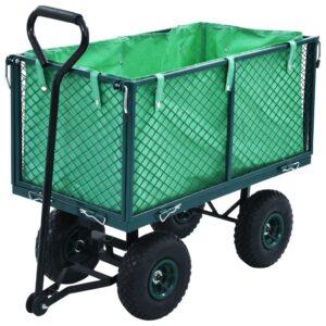 Carrinho de mão para jardim 350 kg verde - PORTES GRÁTIS