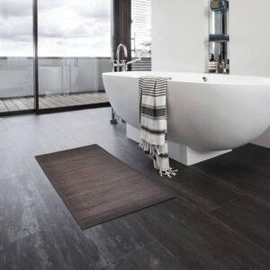 Tapetes de casa de banho 2 pcs 60x90 cm bambu castanho-escuro - PORTES GRÁTIS