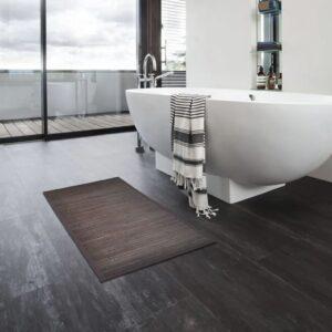 Tapetes de casa de banho 4 pcs 60x90 cm bambu castanho-escuro - PORTES GRÁTIS