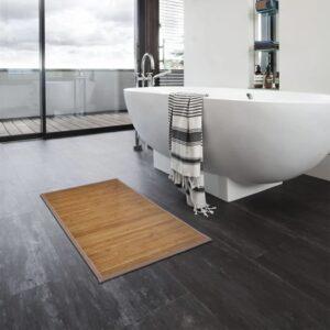 Tapetes de casa de banho 2 pcs 60x90 cm bambu castanho - PORTES GRÁTIS