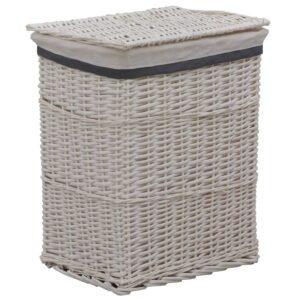 Cesto de roupa suja empilhável salgueiro branco - PORTES GRÁTIS