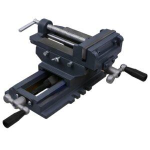 Torno-prensa manual com corrediça transversal 127 mm - PORTES GRÁTIS