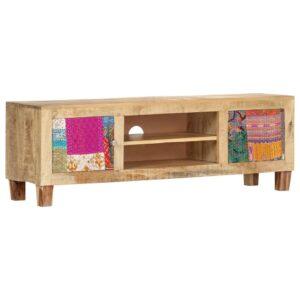 Móvel de TV 120x30x40 cm madeira de mangueira maciça  - PORTES GRÁTIS