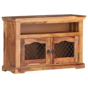 Móvel de TV 90x30x60 cm madeira de sheesham maciça - PORTES GRÁTIS
