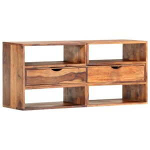 Móvel de TV 160x30x45 cm madeira de sheesham maciça - PORTES GRÁTIS