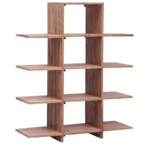 Estante 100x30x120 cm madeira de teca maciça - PORTES GRÁTIS