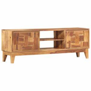 Móvel de TV 130x30x45 cm madeira de sheesham maciça - PORTES GRÁTIS