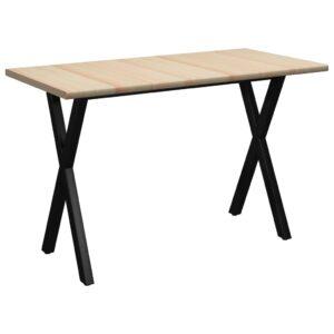 Mesa de jantar 140x70x76 cm madeira de pinho - PORTES GRÁTIS